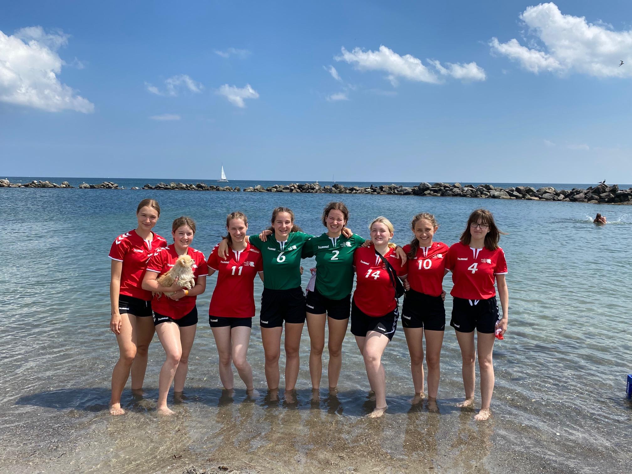 wJB 2 beim Beachhandball Cup in Damp